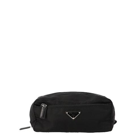 Black Nylon Travel Pouch