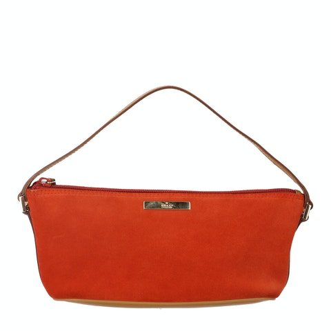 Gucci Orange Suede Boat Pochette
