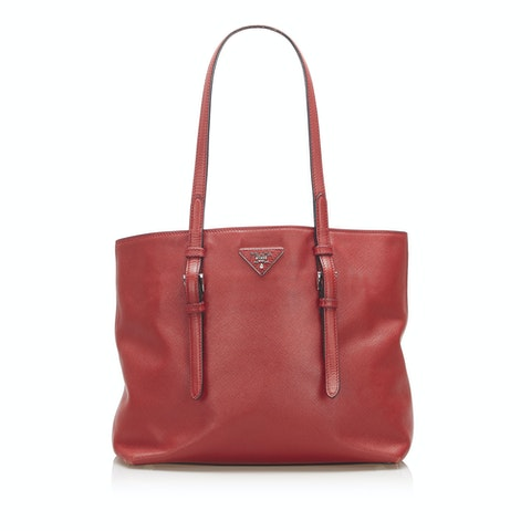 Soft Saffiano Leather Tote Bag