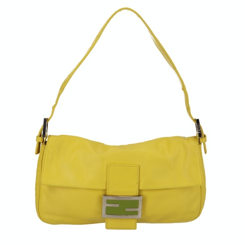 Yellow Leather Baguette