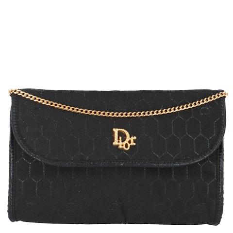 Dior Black Honeycomb Canvas Crossbody