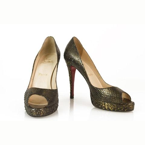 Christian Louboutin Snakeskin Heels