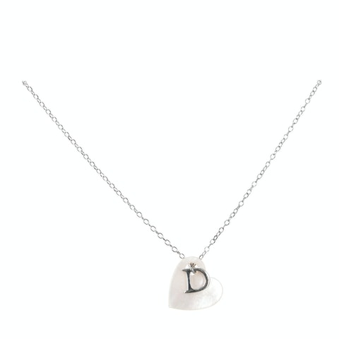 Silver-Toned Letter 'D' Necklace