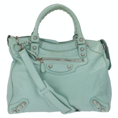 Balenciaga Mint Chevre Velo Giant 12