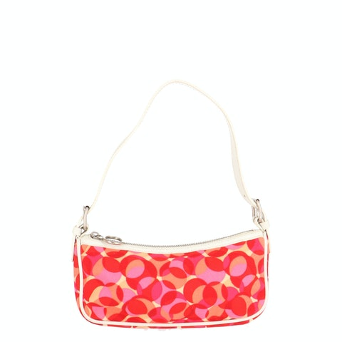 Multicolor Printed Canvas Shoulder Bag