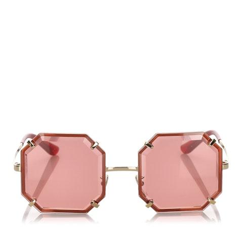 Octagonal Tinted Sunglasses