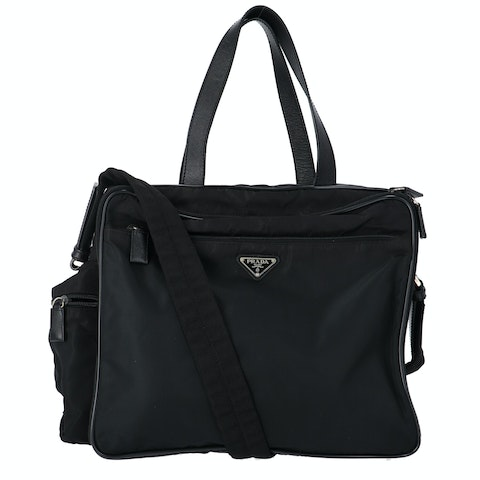 Black Nylon Computer Bag