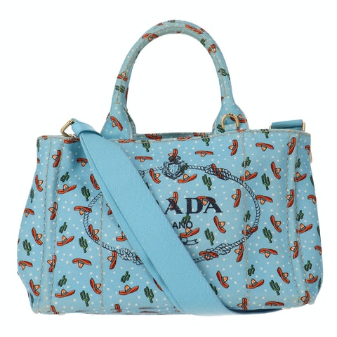 Blue Printed Canvas Tote Limited Edition
