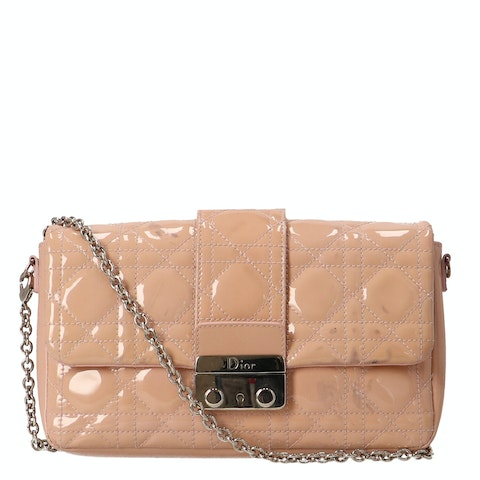 Nude Patent Leather New Lock Pouch