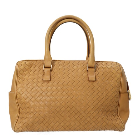 Bottega Veneta Brown Medium Intrecciato Handbag