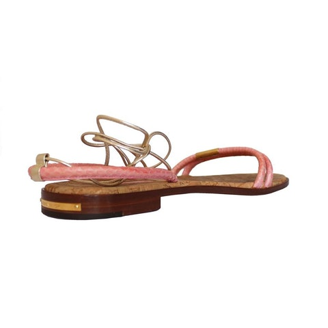 Cork sole pink sandal