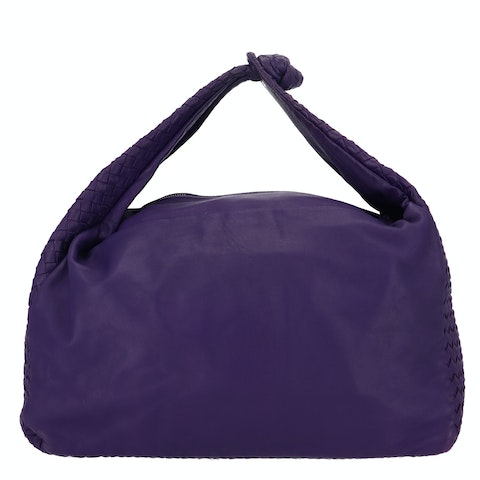 Large Purple Intrecciato Hobo Bag