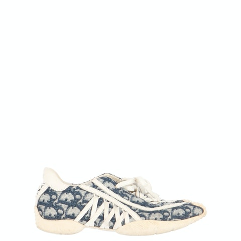 Blue Oblique Canvas Sneakers