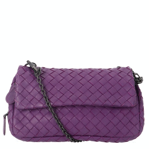 Bottega Veneta Purple Intrecciato Crossbody