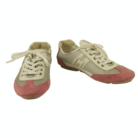 Silver Pink HOGAN Olympia By TODS Sneakers
