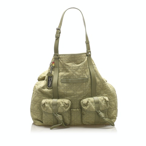 Cannage Canvas Tote Bag