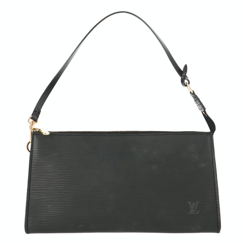 Black Epi Pochette Accessoires