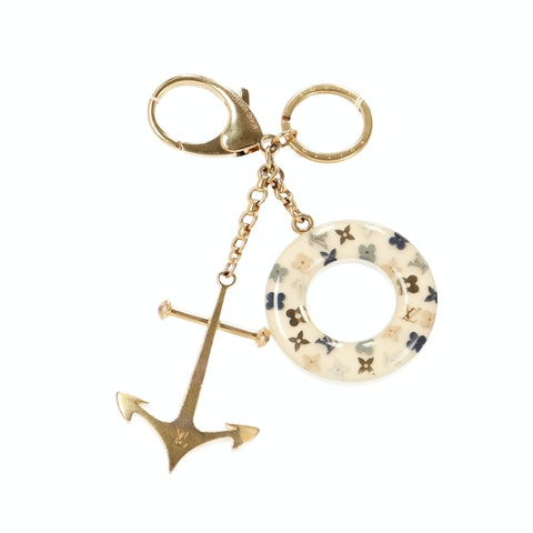 Louis Vuitton Gold Marina Key Chain