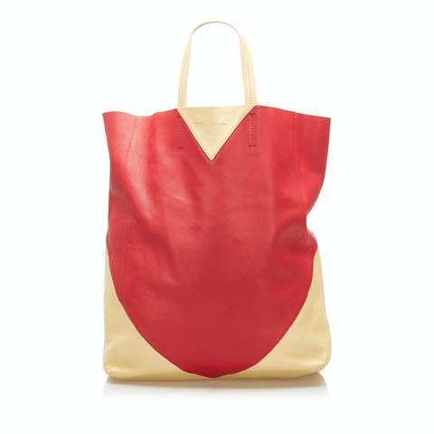 Cabas Leather Tote Bag
