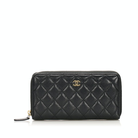 CC Timeless Caviar Leather Wallet