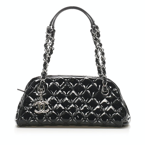Mademoiselle Patent Leather Bowling Bag