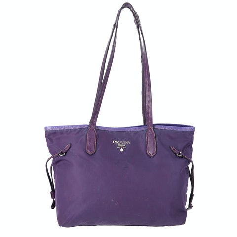 Purple Nylon Shoulder Bag