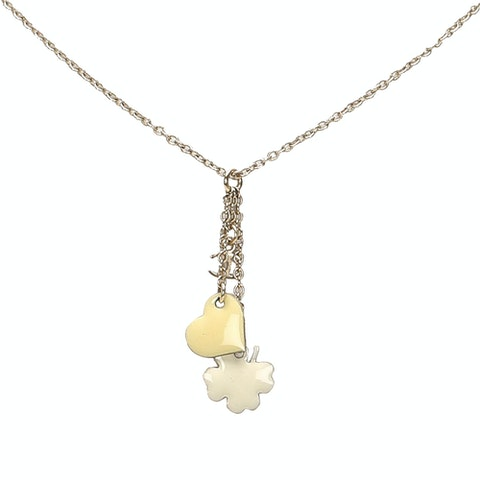 CC Clover Heart Pendant Necklace