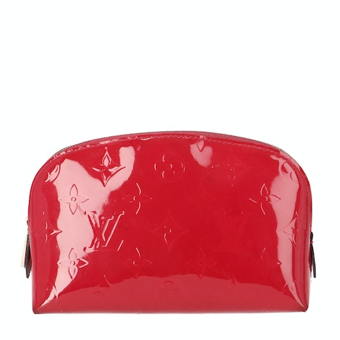 Red Monogram Vernis Cosmetic Pouch