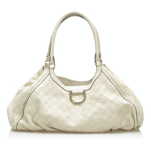 Guccissima Abbey D-Ring Leather Shoulder Bag