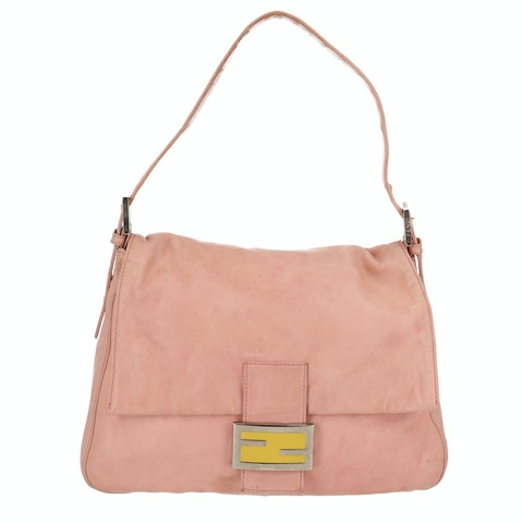 Pink Leather Baguette Mamma