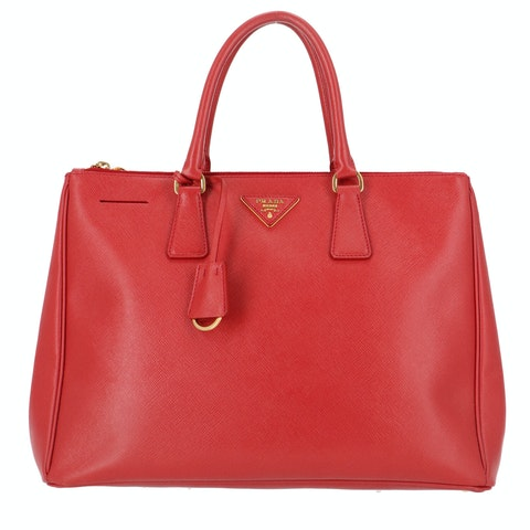 Red Saffiano Leather Galleria Bag Large