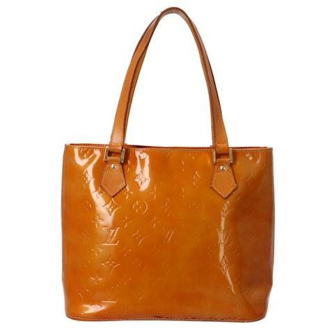 Louis Vuitton Orange Monogram Vernis Houston MM