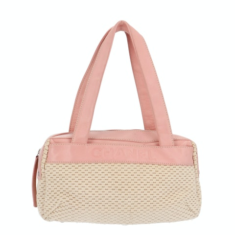Beige Knitted Shoulder Bag