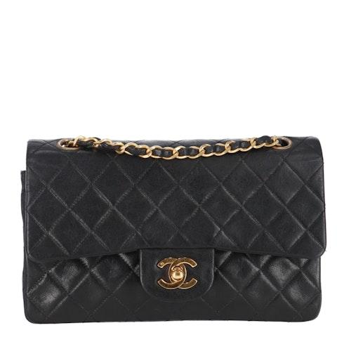 Black Small Lambskin Classic Double Flap Bag