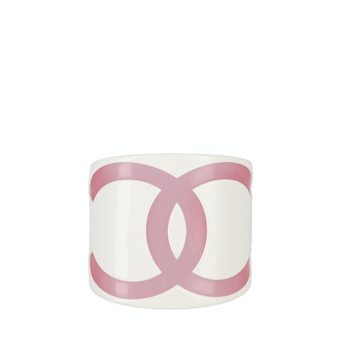 White Resin Logo Cuff
