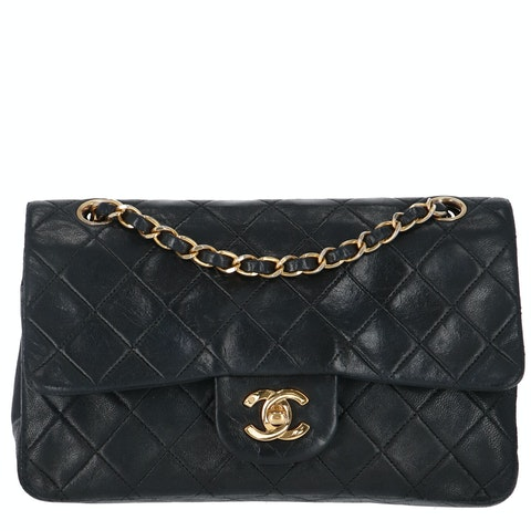 Chanel Black Small Lambskin Classic Double Flap Bag