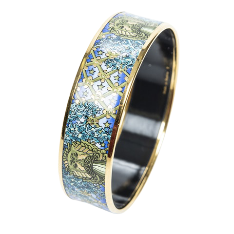 Enamel Bangle MM in Blue/Green Stainless Steel without Nickel