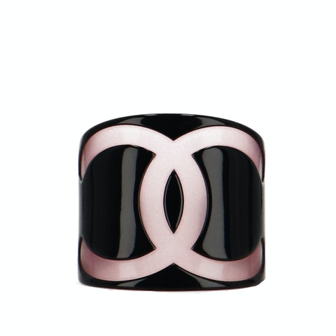 Black Resin Logo Cuff
