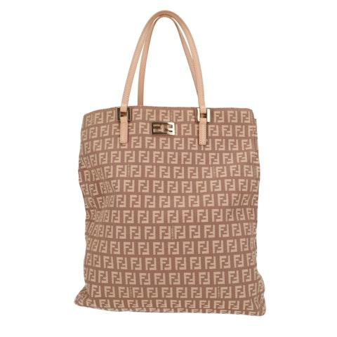 Pink Zucca Canvas Handbag