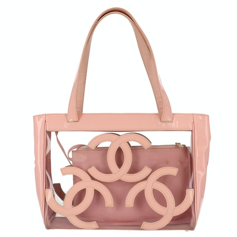 Rose Transparent Rubber Tote