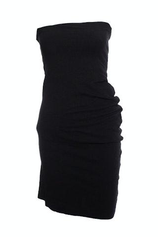 Comme Des garçons, asymmetric strapless dress.