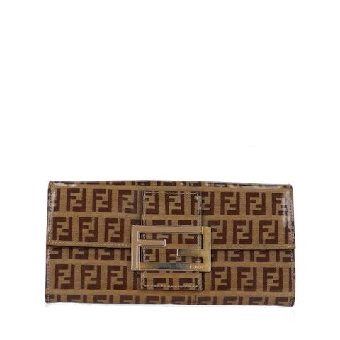 Brown Zucca Vinyl Long Wallet