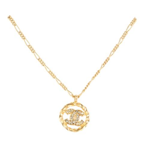 Gold 'CC' Rhinestone Necklace