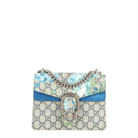 Blue Blooms Coated Canvas Dionysus Mini