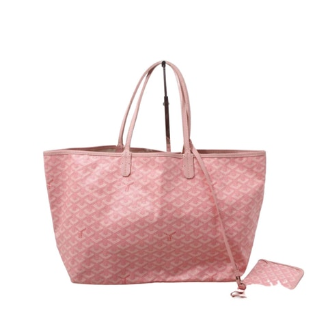 Pink Goyardine Canvas Saint Louis Tote PM