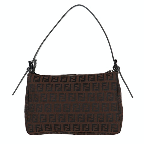 Brown Zucca Canvas Shoulder Bag