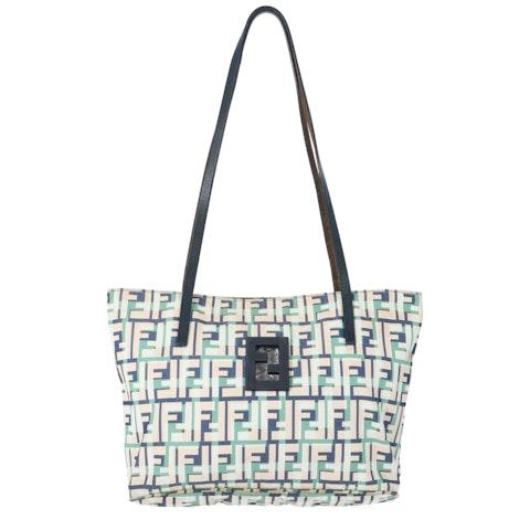 Multicolor Zucca Canvas Shoulder Bag