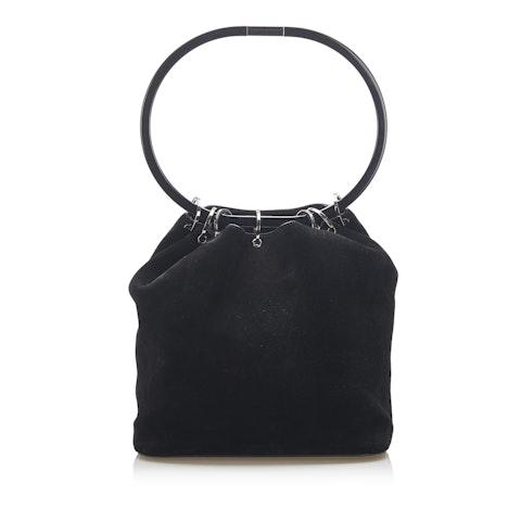 Hoop Suede Handbag