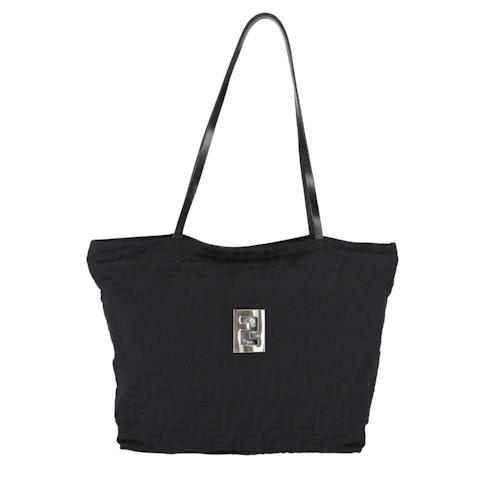 Black Zucca Canvas Shoulder Bag