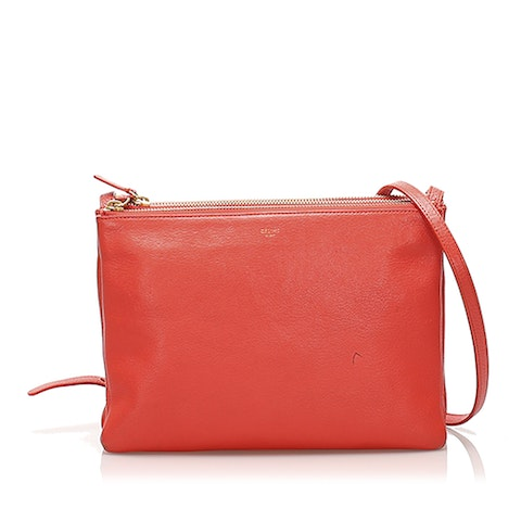 Trio Leather Shoulder Bag